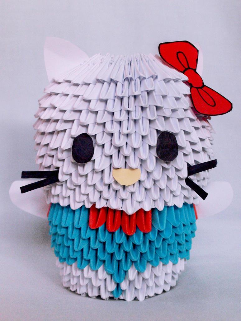 Hello Kitty - Modular origami by prosaix