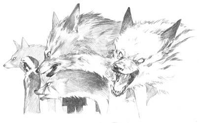 Warrior Wolves by Puolukkapiirakka