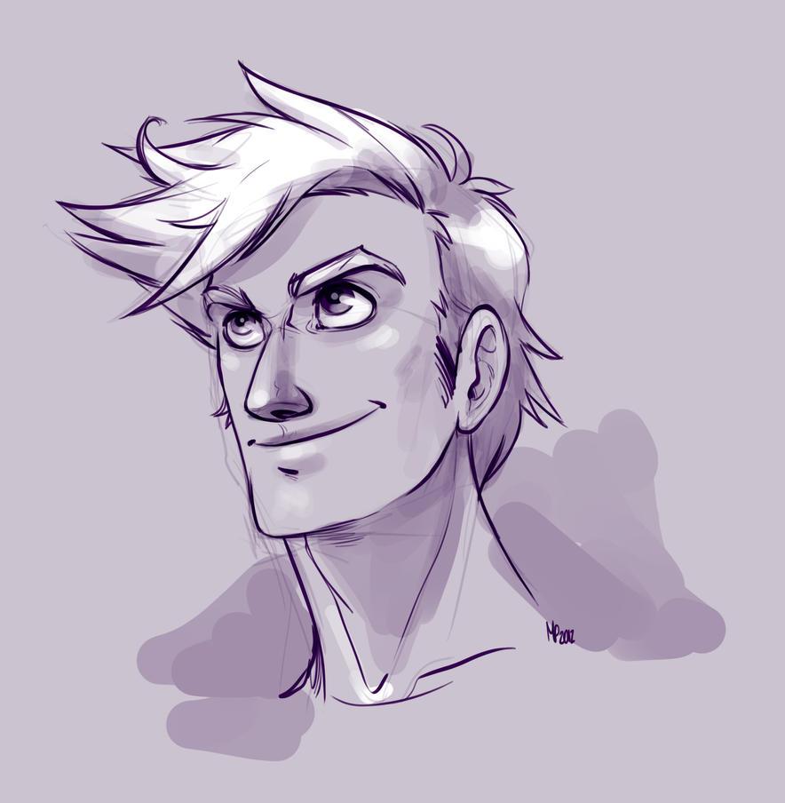 Cute Guy Sketch By MPdigitalART
