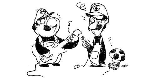 Mario and luigi gamers by MPdigitalART