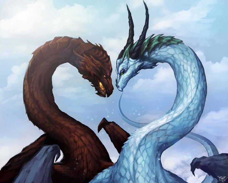 Dragon Love by sanguisGelidus