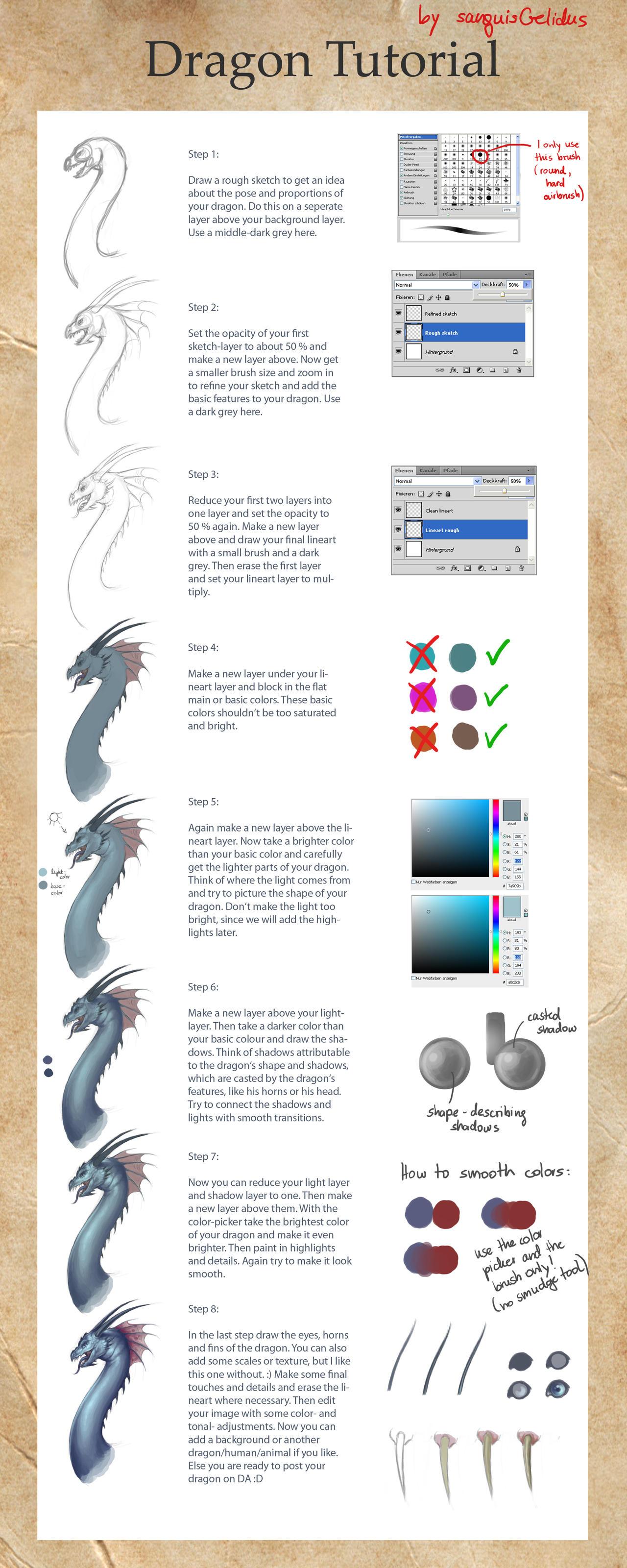 Dragon Tutorial by JoJoesArt