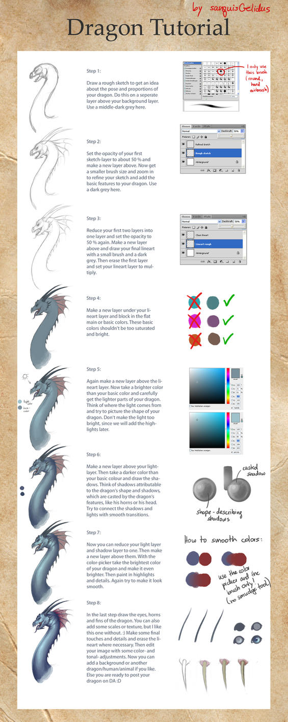 Dragon Tutorial by sanguisGelidus