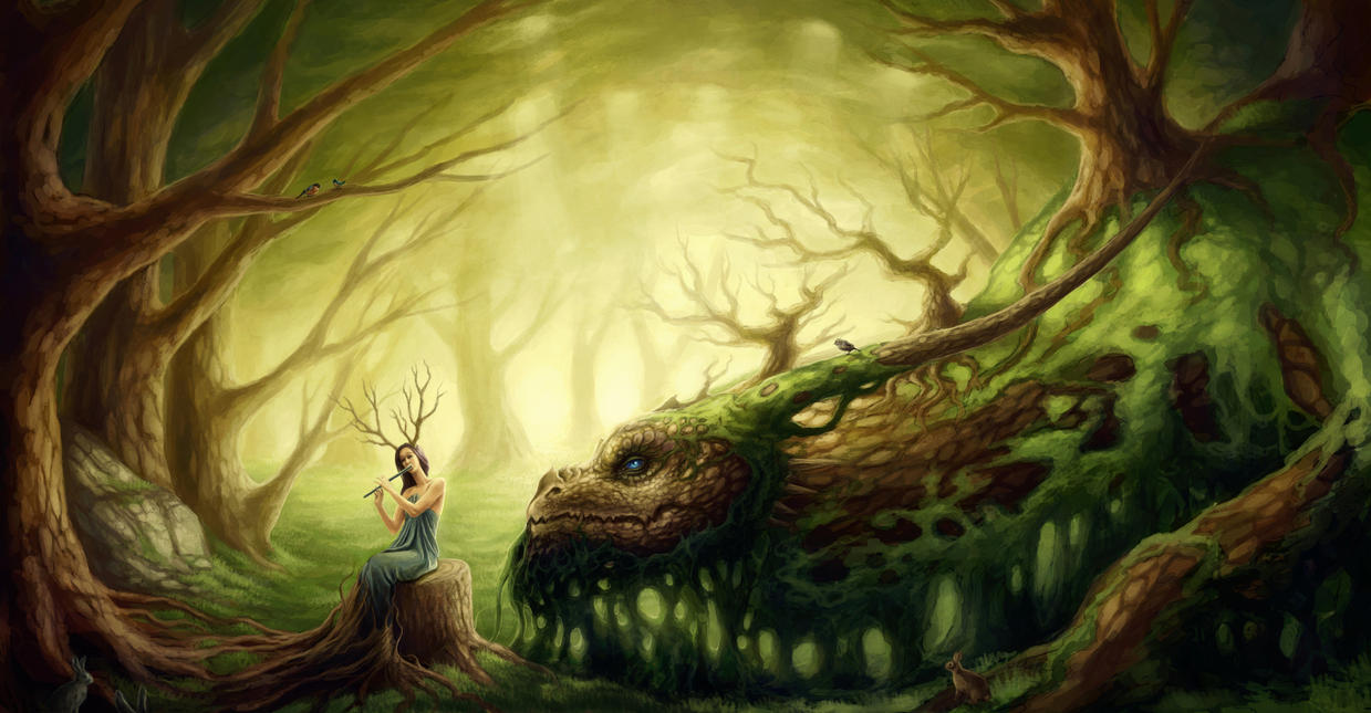 Forgotten Fairytales by JoJoesArt on DeviantArt for Fantasy World Art Dragon  5lpkxo