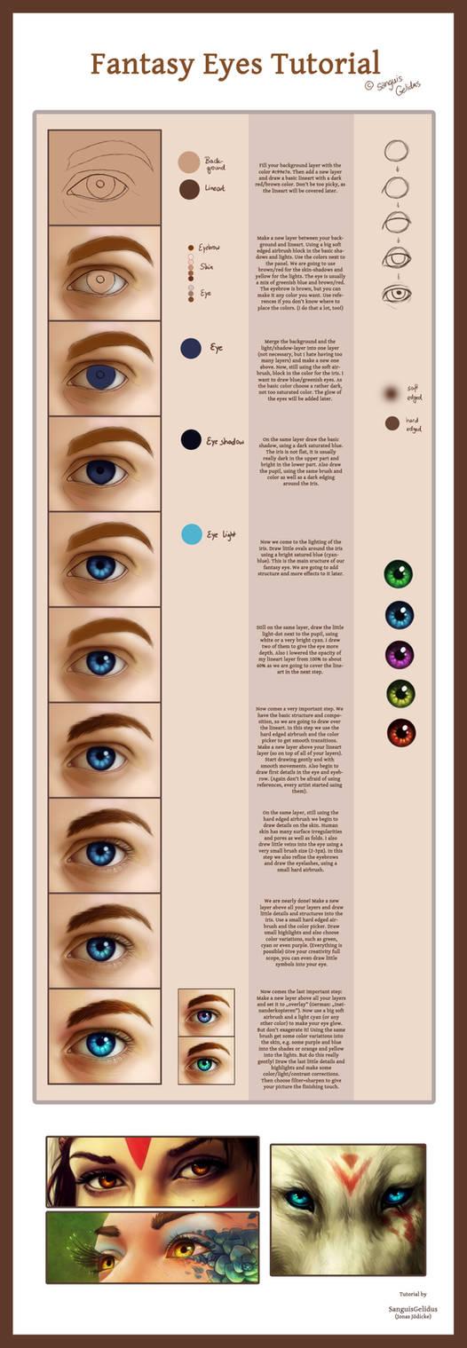 Fantasy Eyes Tutorial by JoJoesArt