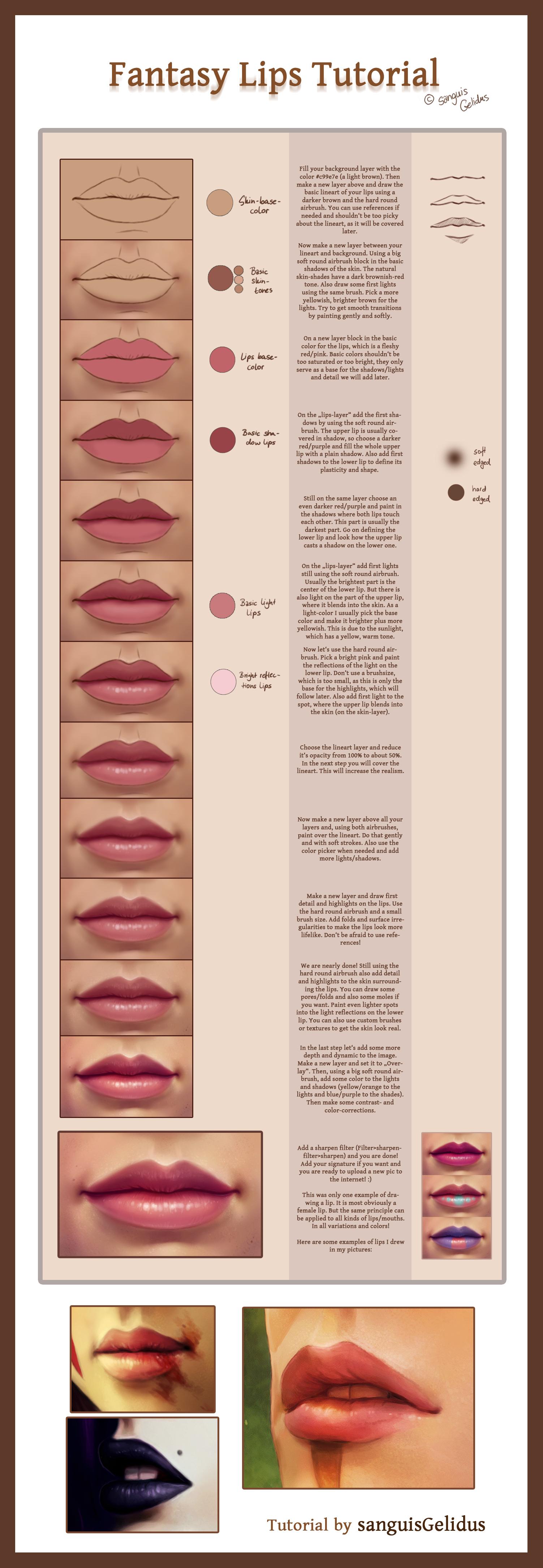 Fantasy Lips Tutorial by JoJoesArt