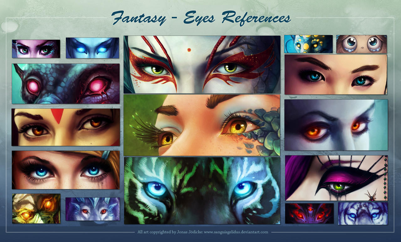 Fantasy Eyes - References by sanguisGelidus
