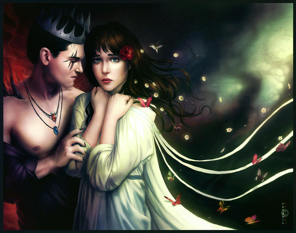 Hades and Persephone by sanguisGelidus