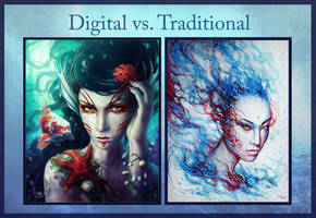 Digital Vs Traditional by JoJoesArt