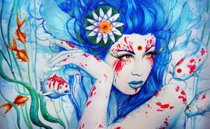 Goddess of the Koi by JoJoesArt