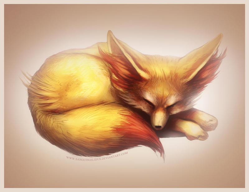 Pokemon X Y starter - Fennekin by JoJoesArt