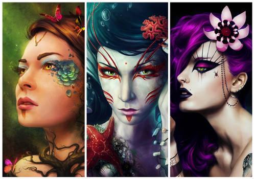 Goddesses of the Nature - Wallpaper