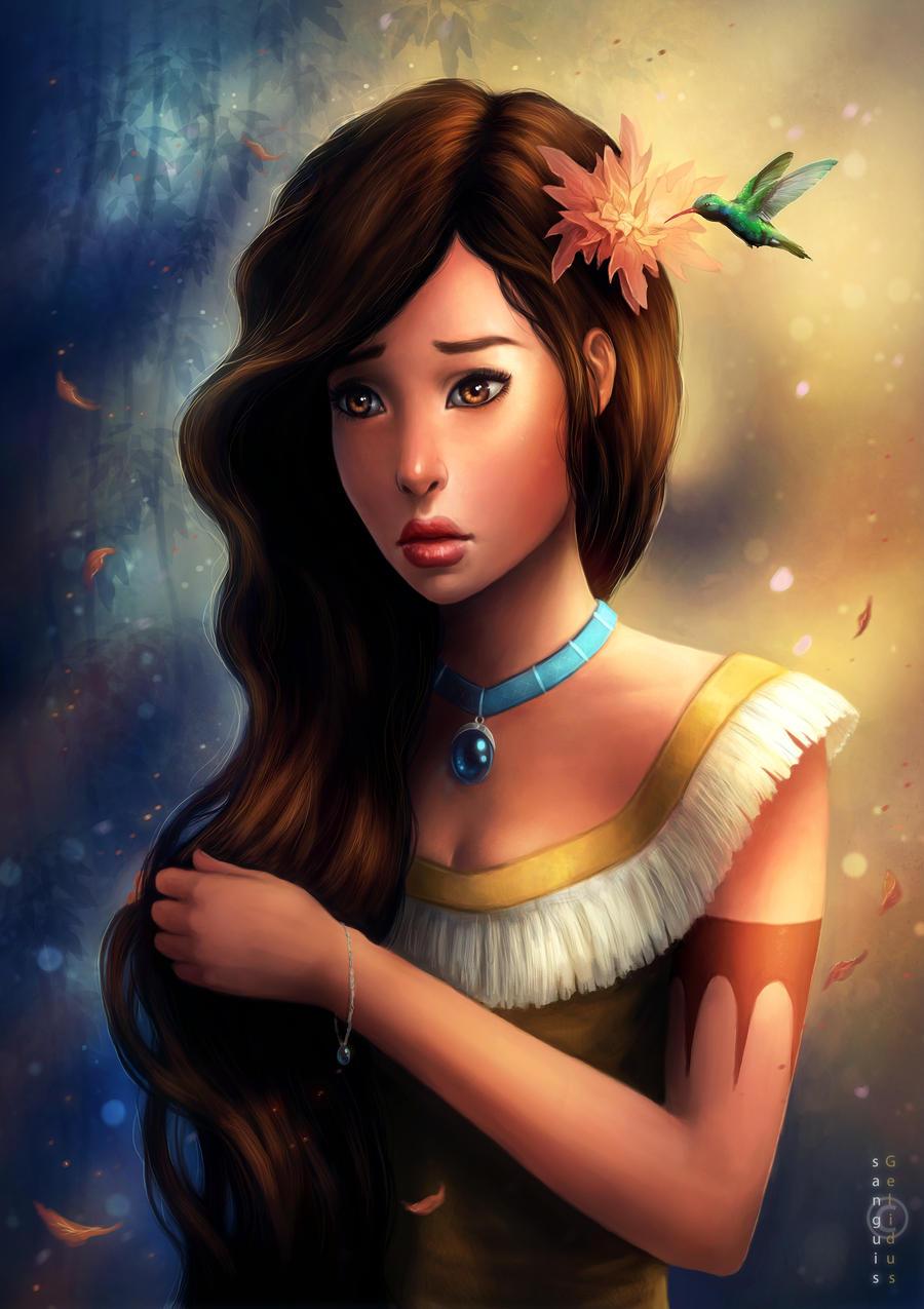 Disney Pocahontas by JoJoesArt