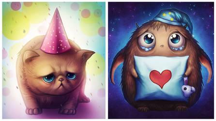 Cute INTERACTIVE wallpapers - FREE by JoJoesArt