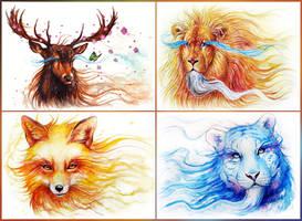 Spirits of the Seasons by JoJoesArt
