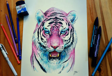 Bubblegum Tiger by JoJoesArt