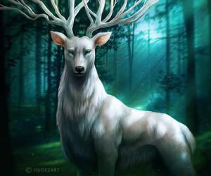 Forest God by JoJoesArt