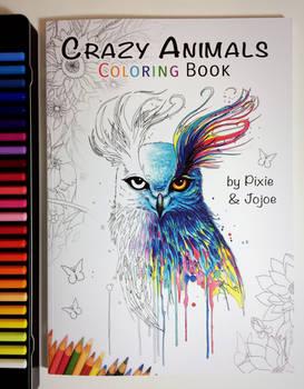 Crazy Animals Coloring Book