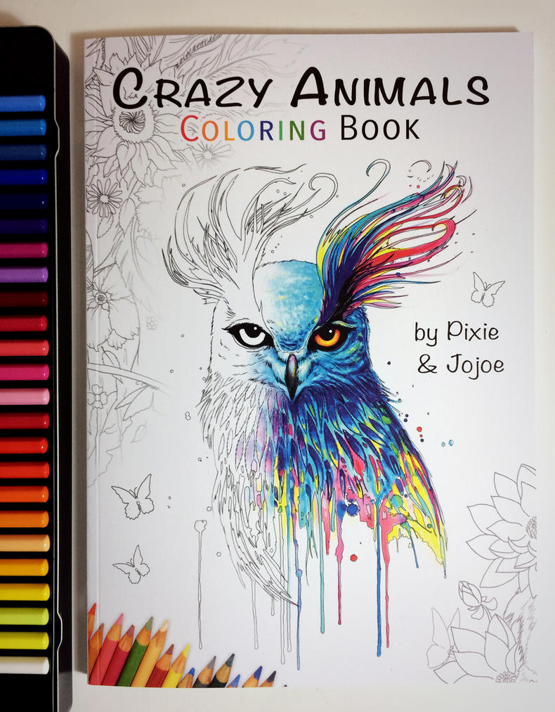 Crazy Animals Coloring Book by JoJoesArt