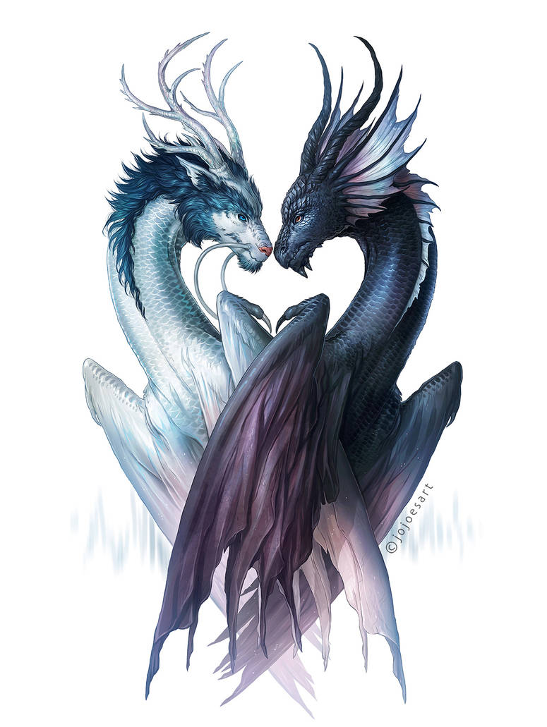 Dragons of Yin and Yang by JoJoesArt