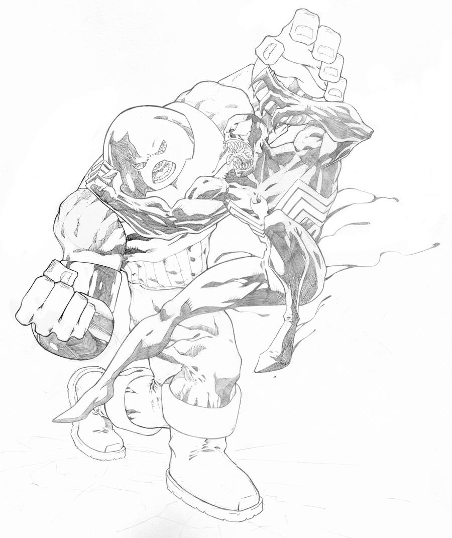 juggernaut coloring pages - juggernaut vs venom by lebo47 on deviantart