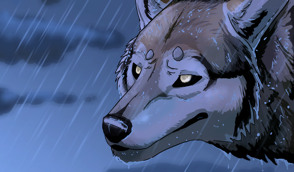 Saint Wolf by KeitiBlackWhiteWolf