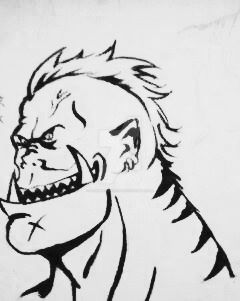 Sketchbook highlight: Tiger Drook,the Orc by PenDracoNero