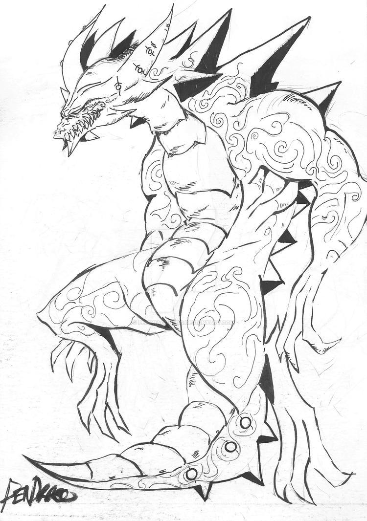 PenDraco The Recluse Beast. by PenDracoNero