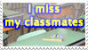 I miss my classmates stamp by AliceSacco