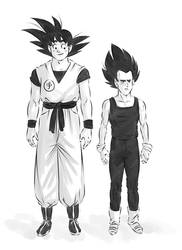 Goku and Vegeta by AliceSacco