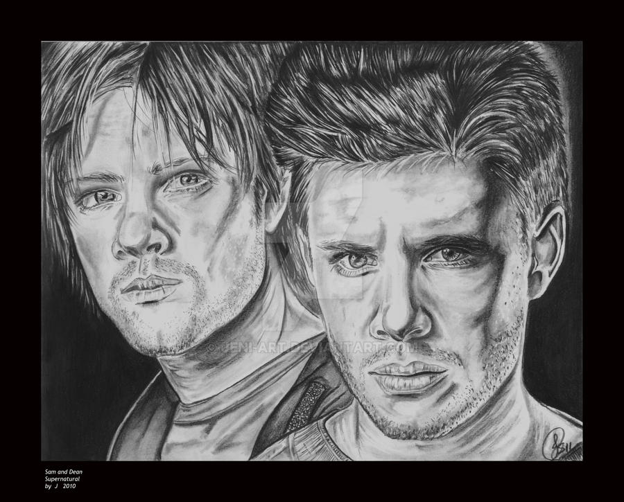 Sam and Dean by jeni-art