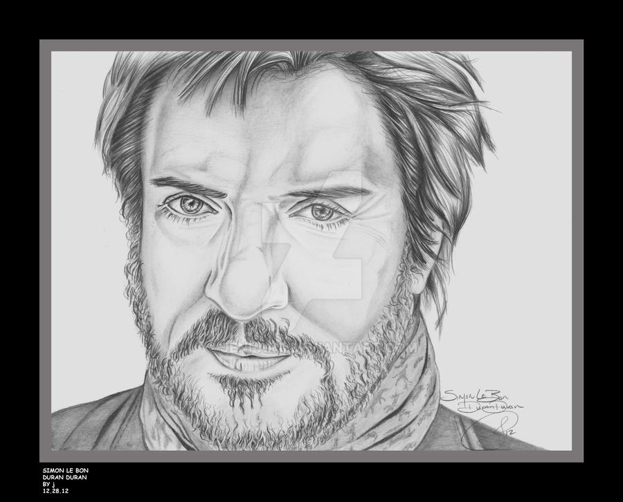 Simon Le Bon of Duran Duran by jeni-art