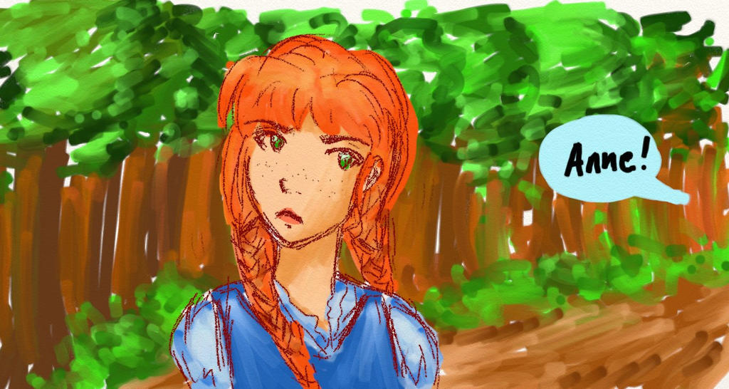 Sketch-Anne of Green Gables by Shadowhunter201