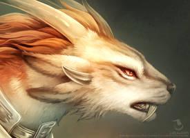 Charr Guardian [Headshot Detail] by Landylachs