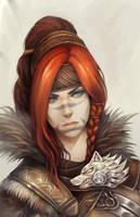 Eir Portrait Painting by Landylachs