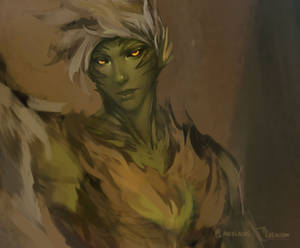 Trahearne Warm-up painting [ Crop ]