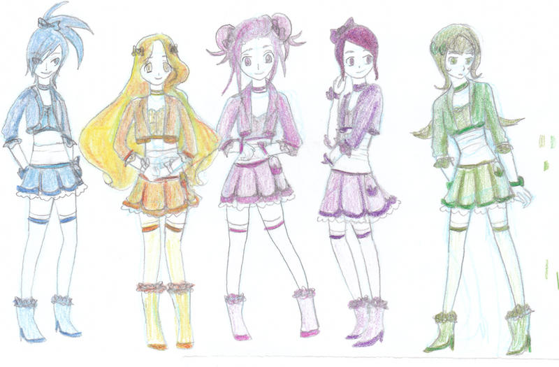 Character Design Contest 2014 : Precure oc team character design by badasshellokitty on