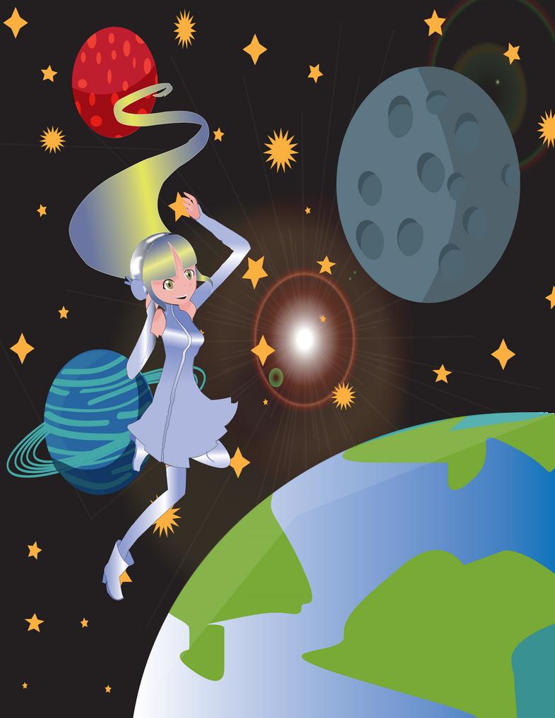 space girl by badasshellokitty