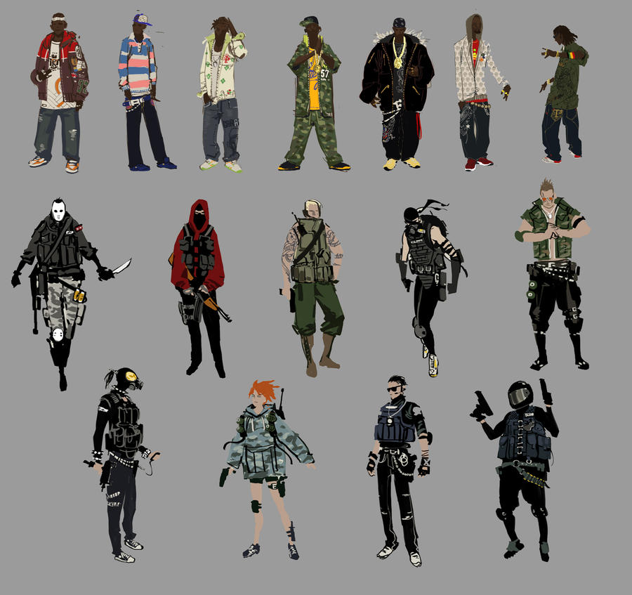 APB Fashion Sketches 2 by arnistotle