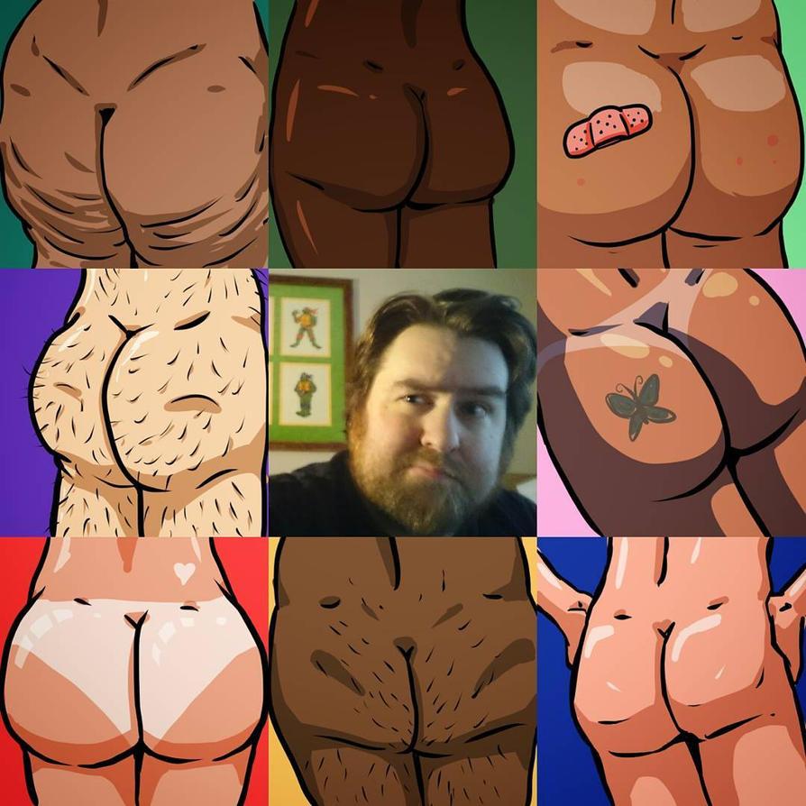 Art Vs Artist... Well, butts too by DangerPins