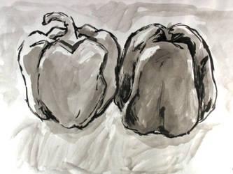Yin-Yang Peppers by DangerPins