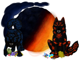 Skoll/Hati for my use on PFQ as shop art