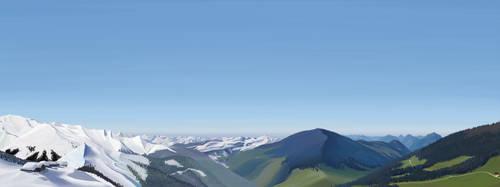 The Alps - Winter vs Summer