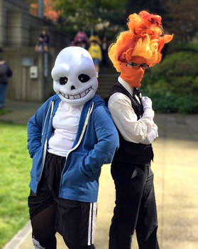 Sans and Grillby