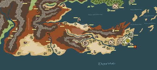 Westeros Map: Dorne
