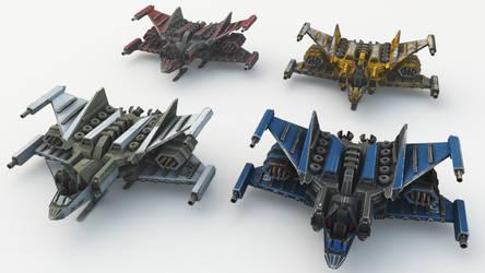 Hades Starfighter Mk2 4 varieties