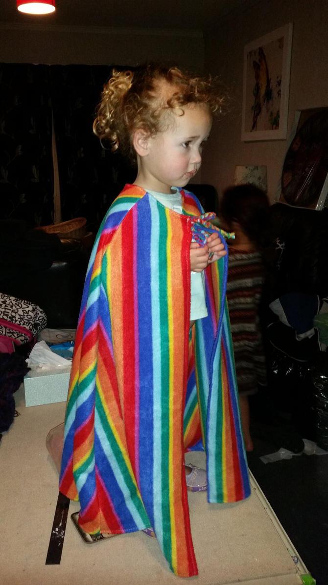 Rainbow cloak by Gypsy-puma