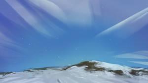 Simple snowy landscape