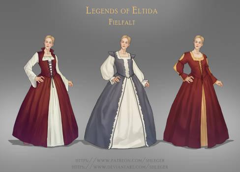 Fielfalt costume design set 4w | Medieval fashion by Shleger