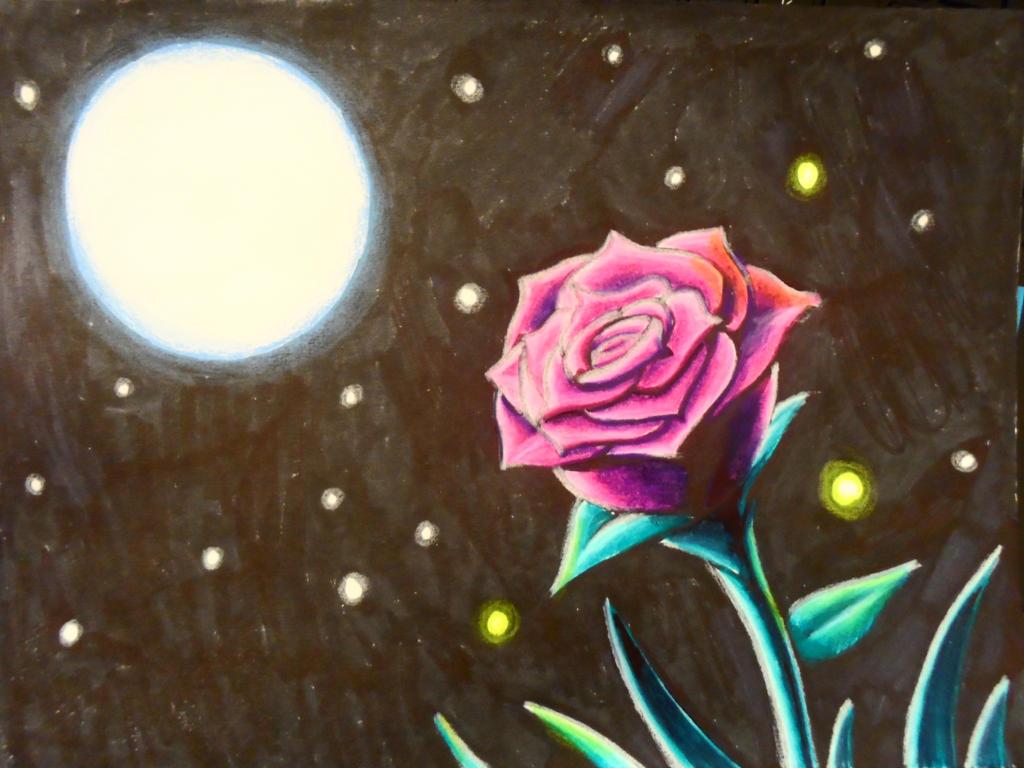 Rose in Moonlight by BrokenHAX